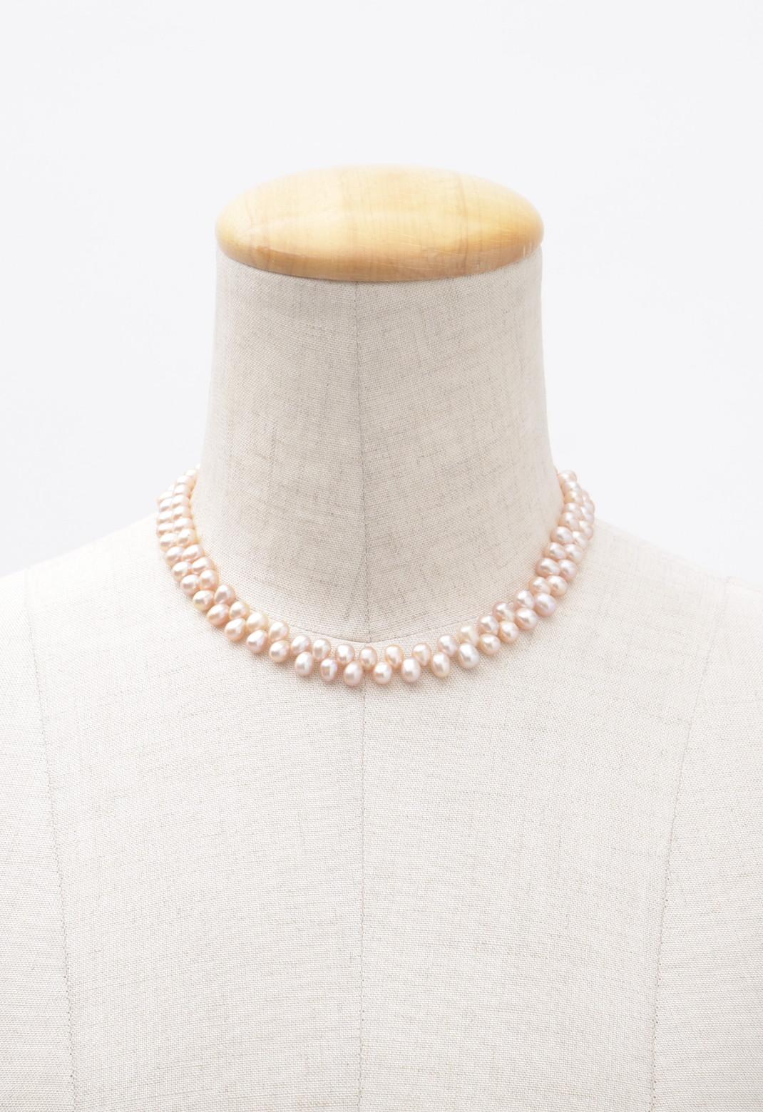 オーバルピンクパール チョーカータイプ ネックレス