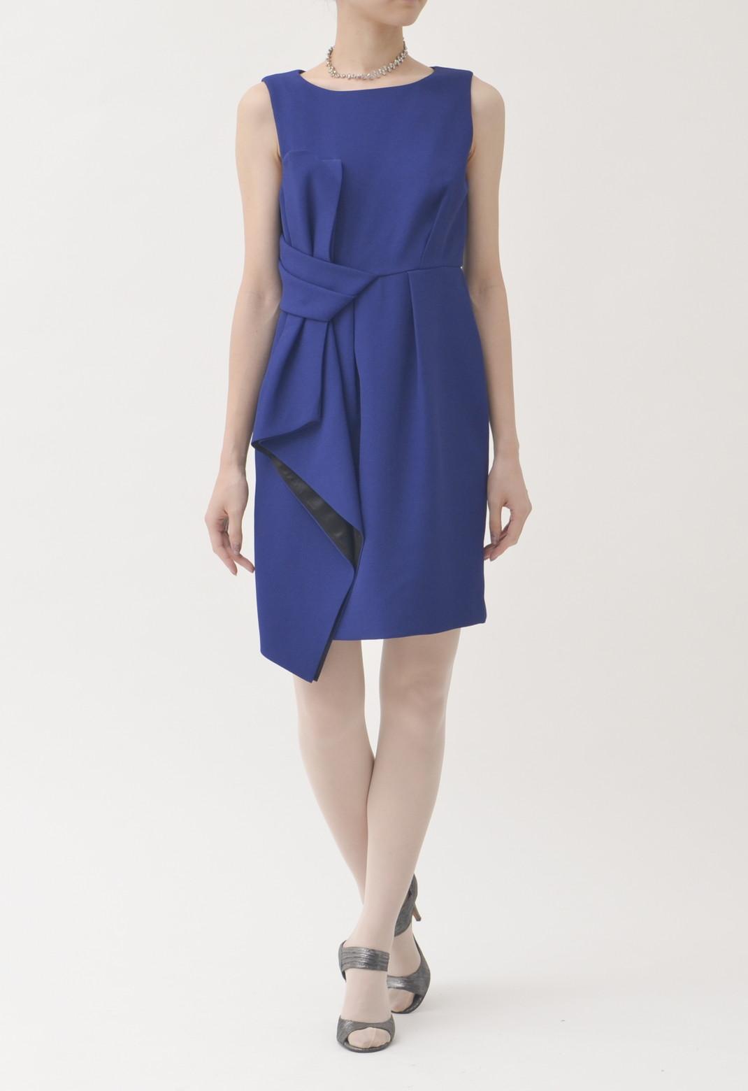 サイドリボン ノースリーブ  ドレス