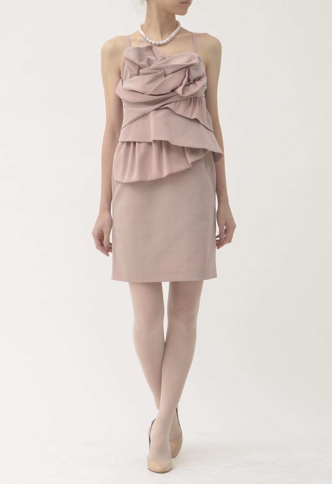フリル キャミソール ドレス