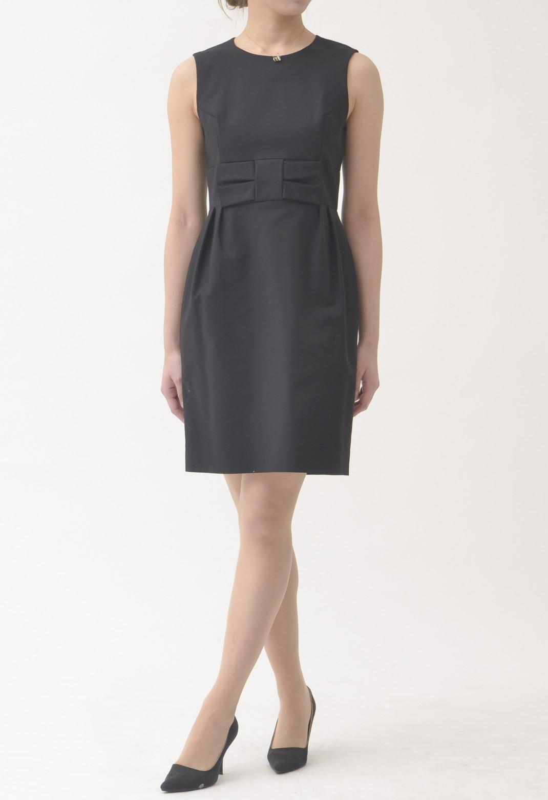 ケイトスペード ウエストリボン飾り ノースリーブ ドレス