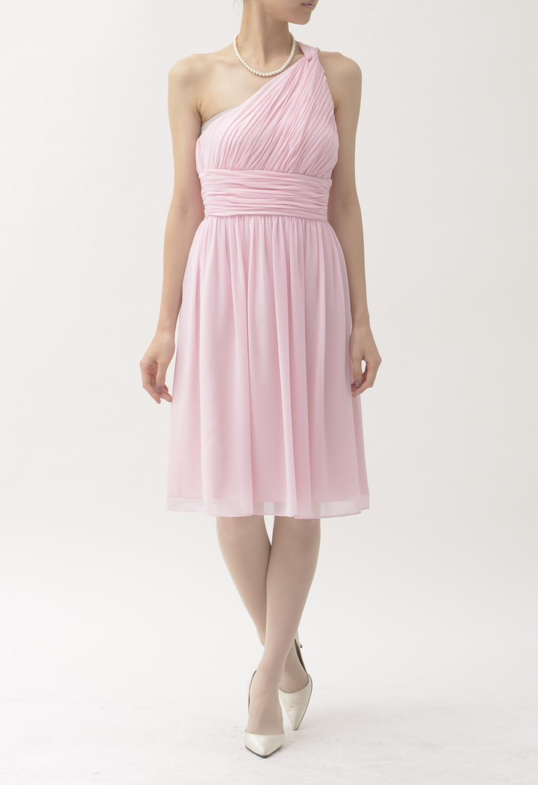 ワンショルダー ドレス