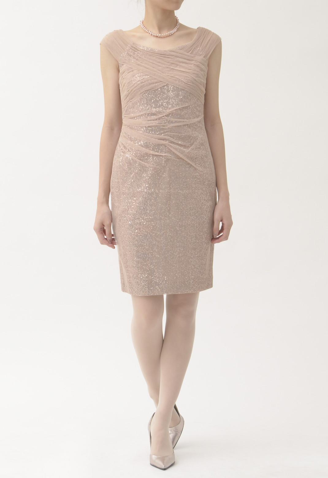 スパンコール ノースリーブ ドレス