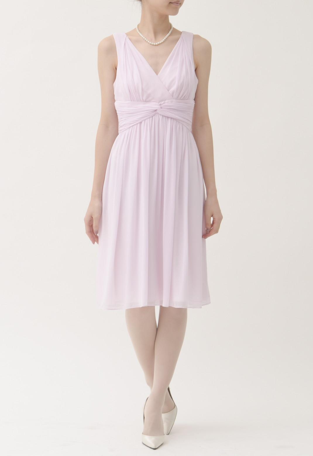 シルク ノースリーブ ドレス