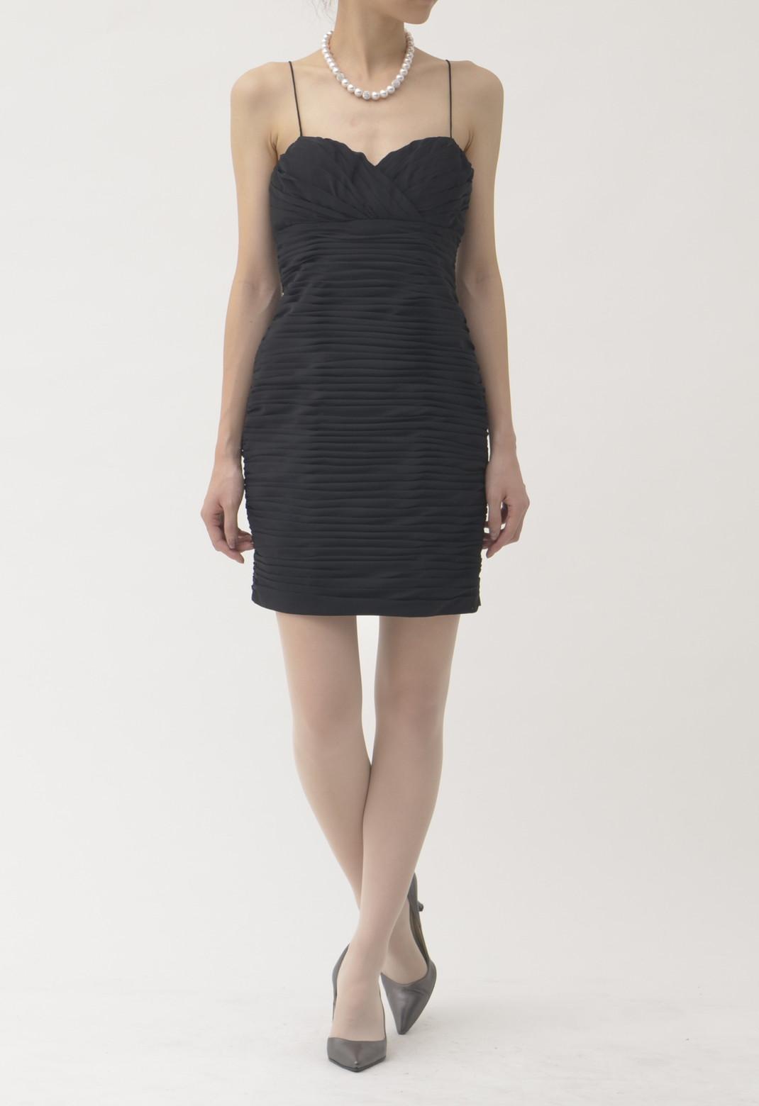 タックプリーツ キャミソール ドレス