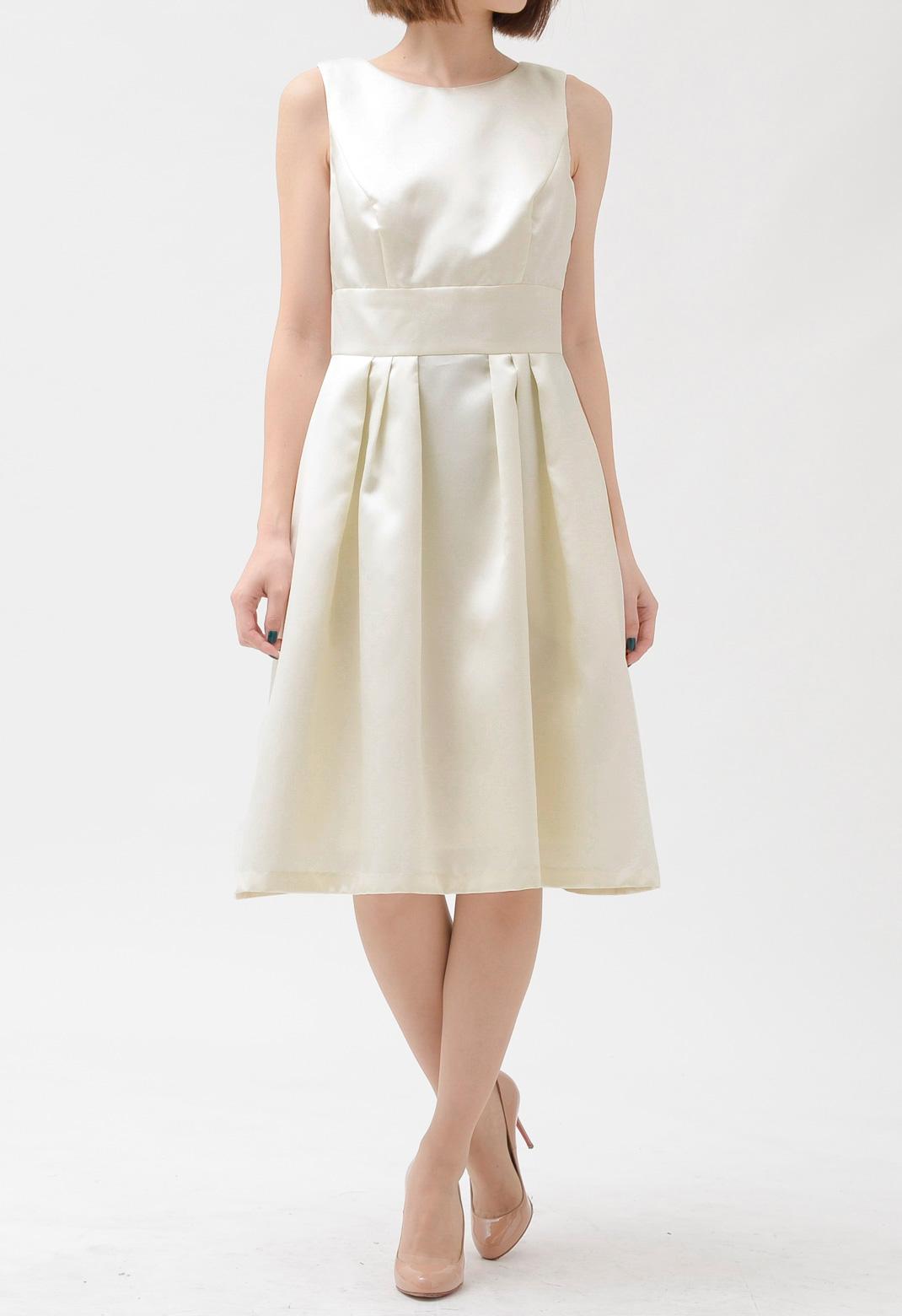 ALFRED SUNG バックリボン飾り ノースリーブ ドレス