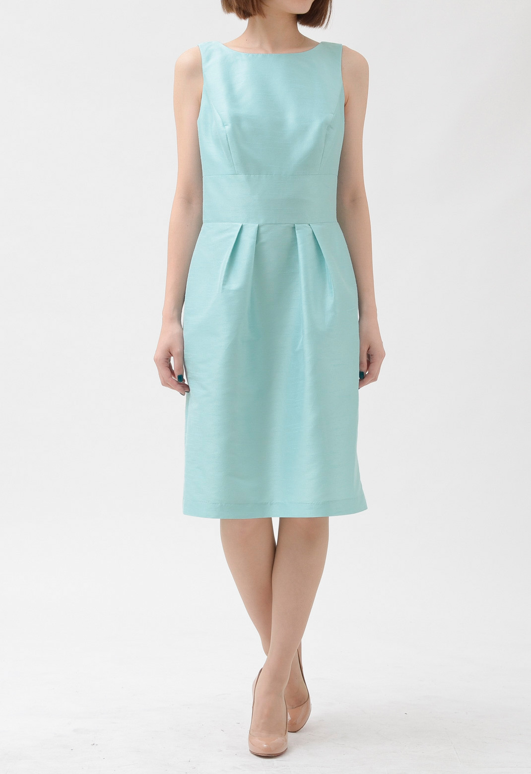 バックリボン飾り ノースリーブ ドレス