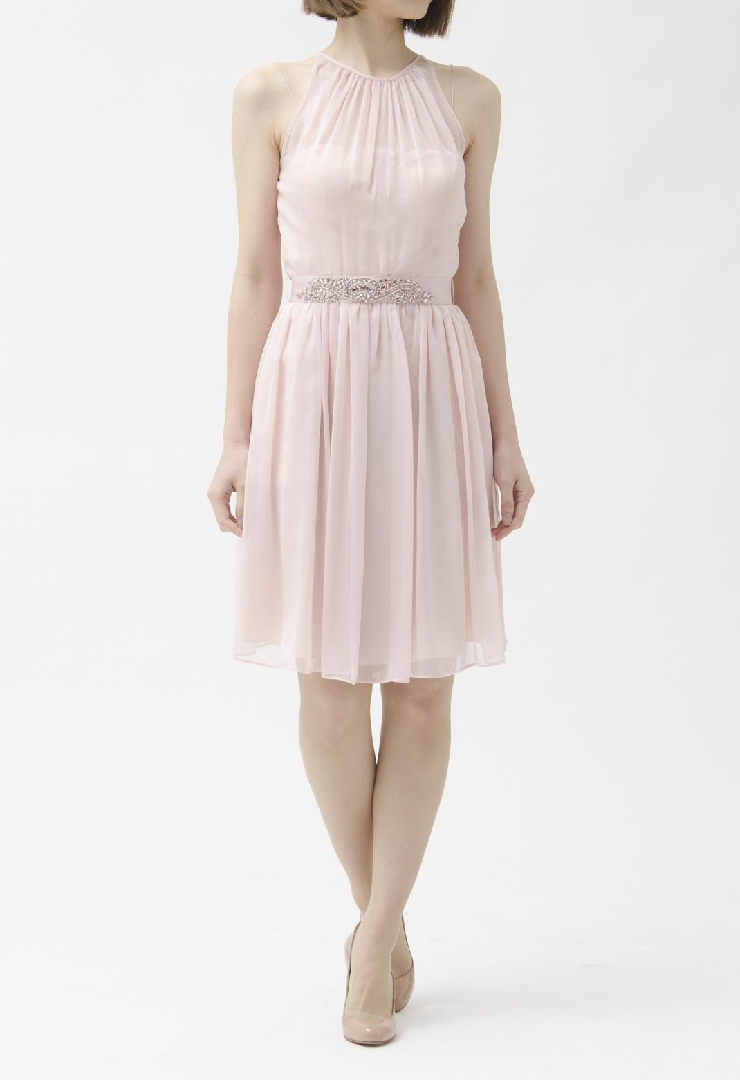シースルー ノースリーブ ドレス