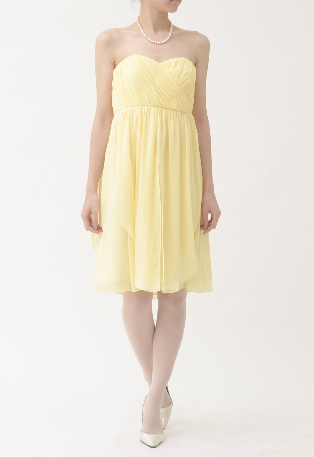 3way ストラップレス ドレス