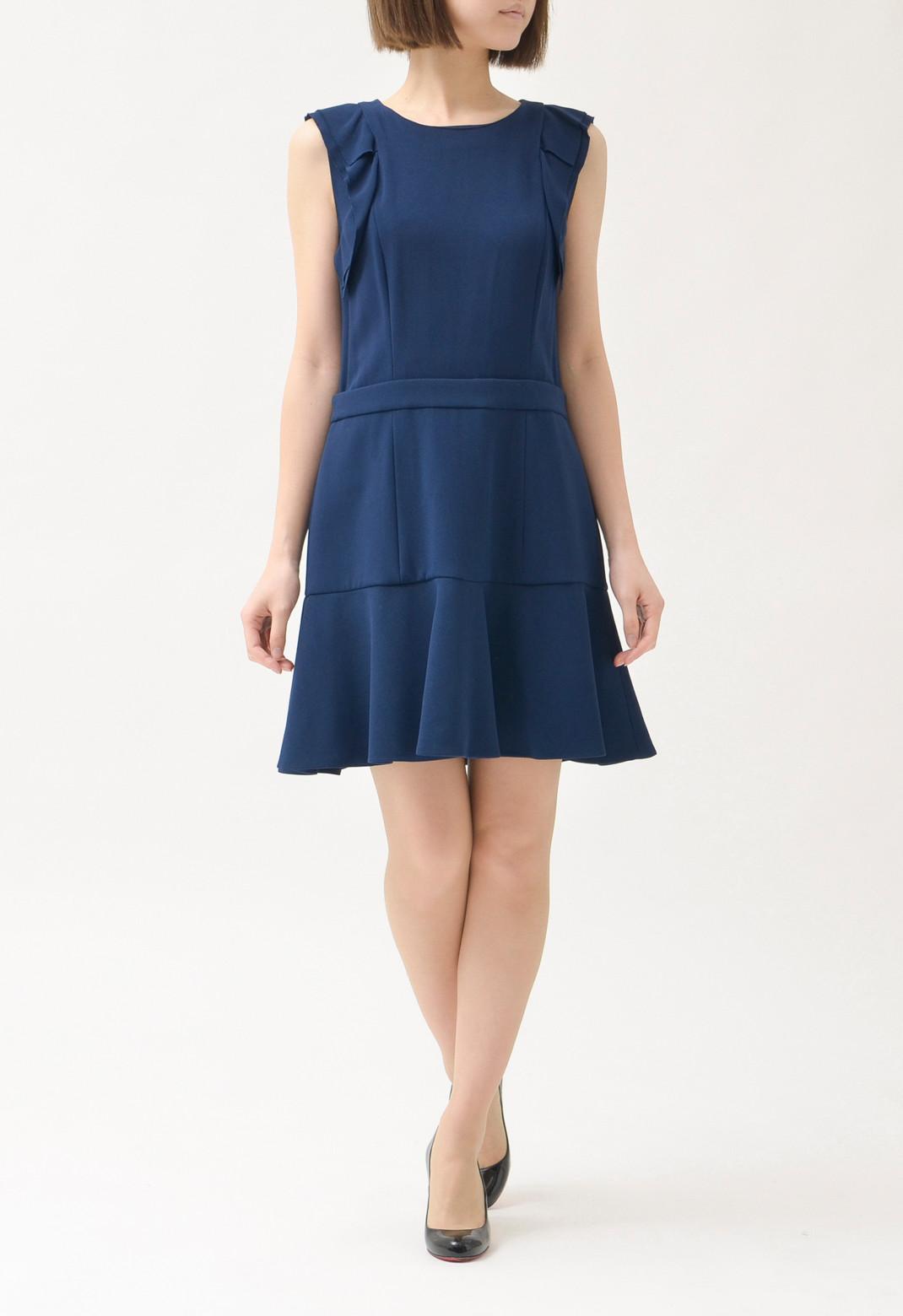 ミュウミュウ 裾フリル ノースリーブドレス