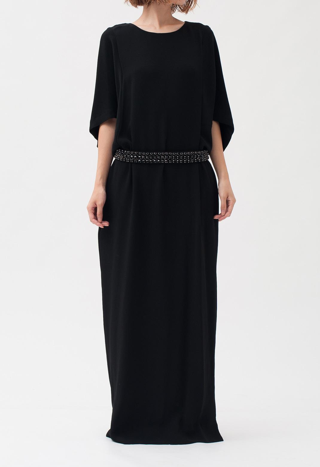 五分袖 ロング ドレス
