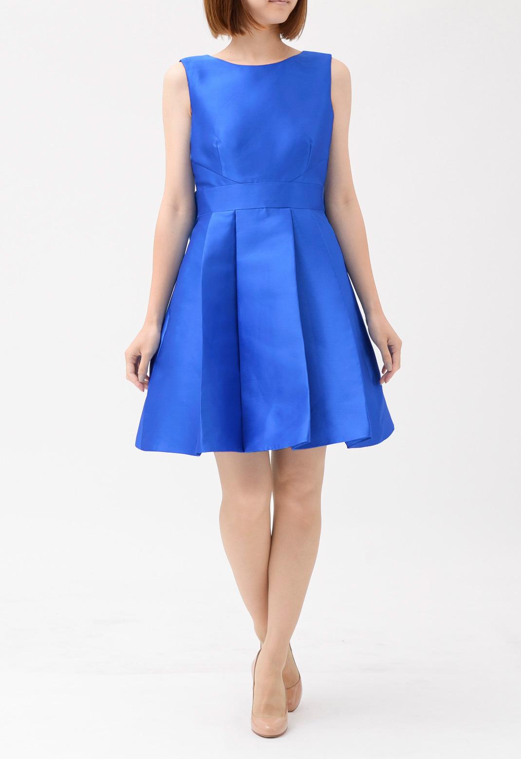 ケイトスペード バックオープン リボン飾り ノースリーブ ドレス