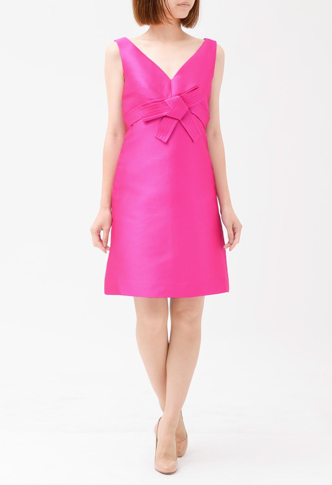 ケイトスペード フロントリボン飾り ノースリーブ ドレス