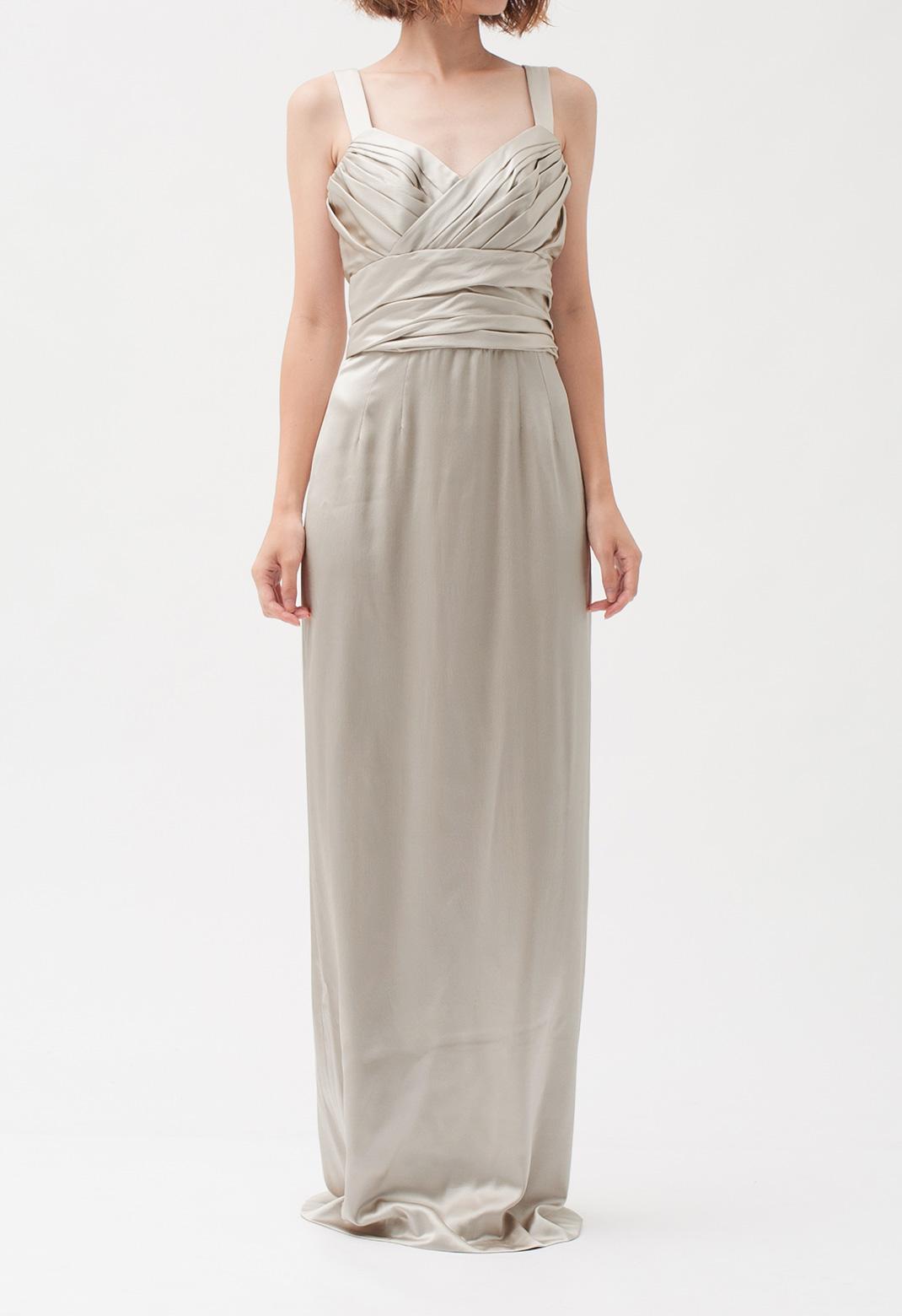 シルク  キャミソール ロング ドレス