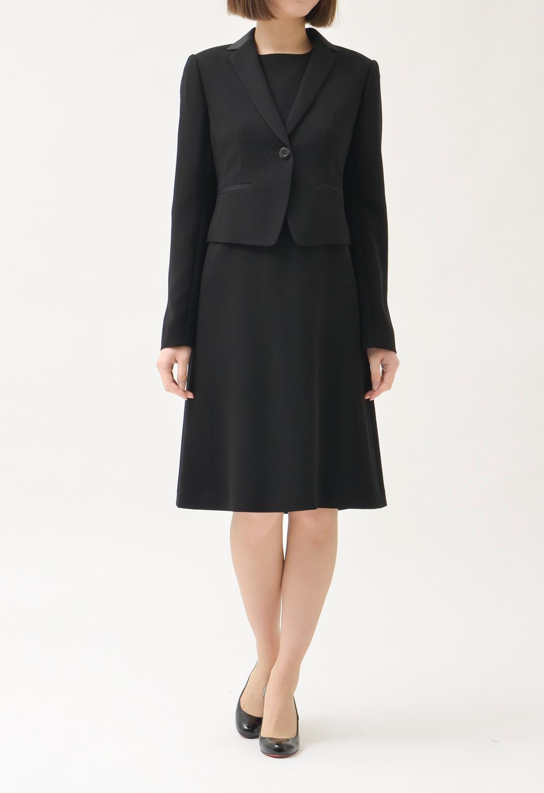 スーツ テーラードジャケット & 七分袖 異素材切替 ワンピース