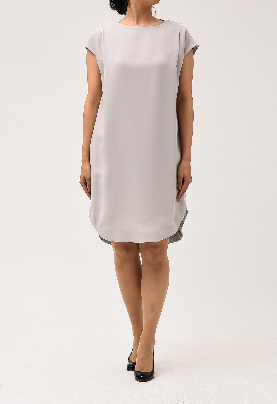 ラウンドカット フレンチスリーブ ドレス