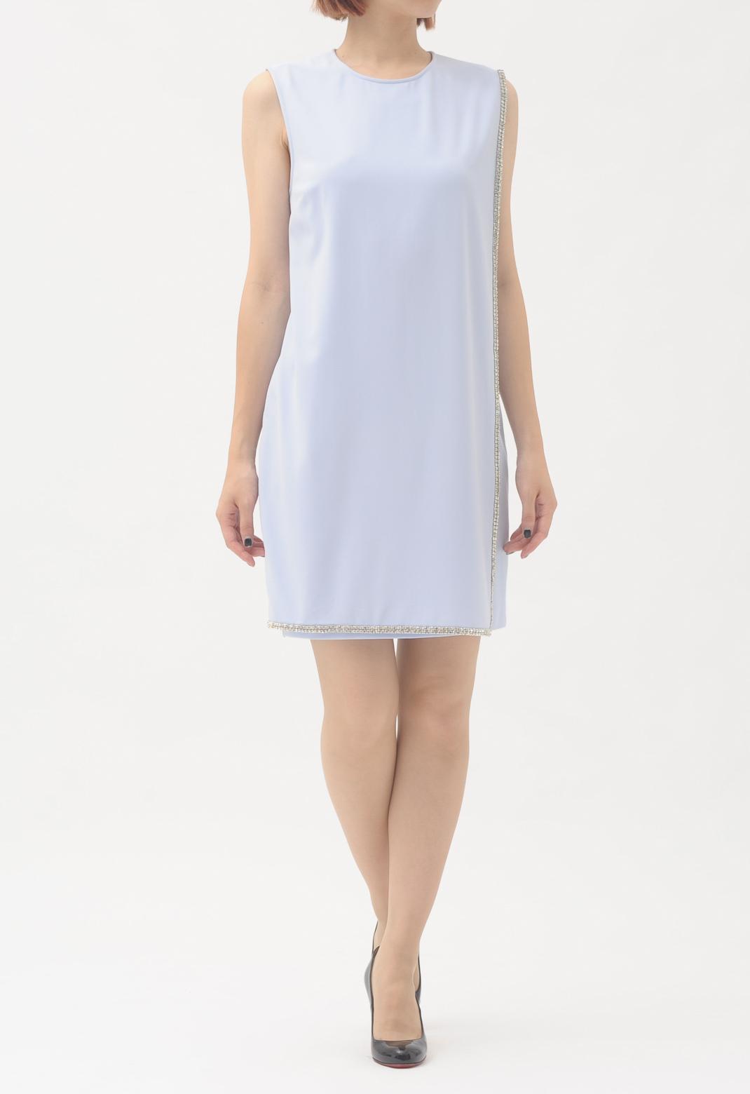 テッドベイカー フチストーン飾り ノースリーブ ドレス