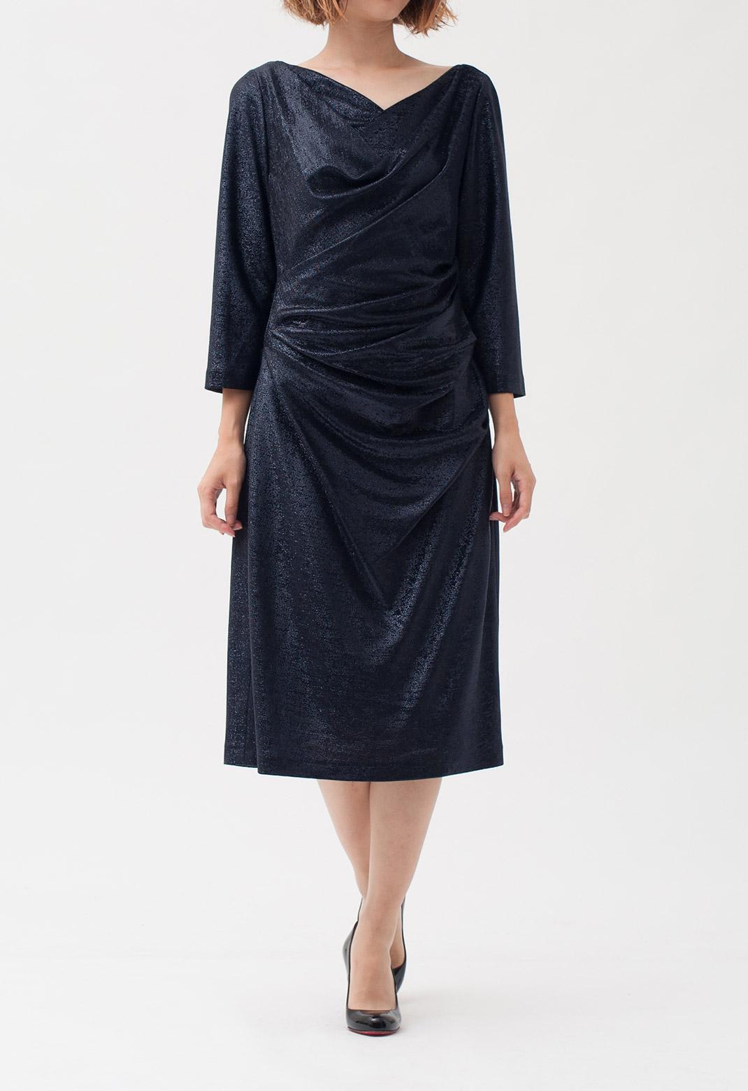 ラメ加工 長袖 ドレス