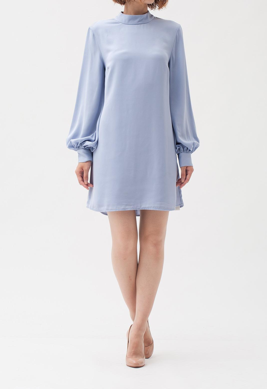 スタンドカラー 長袖 ドレス