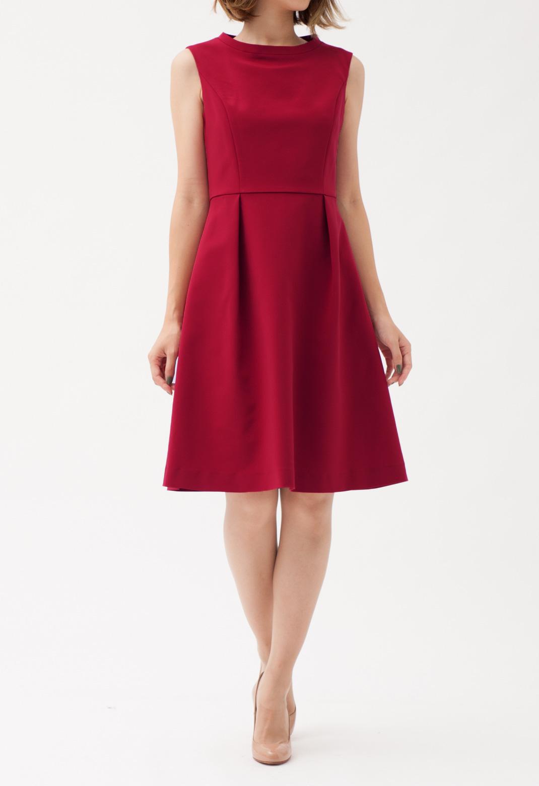 ウエストタック ノースリーブ ドレス