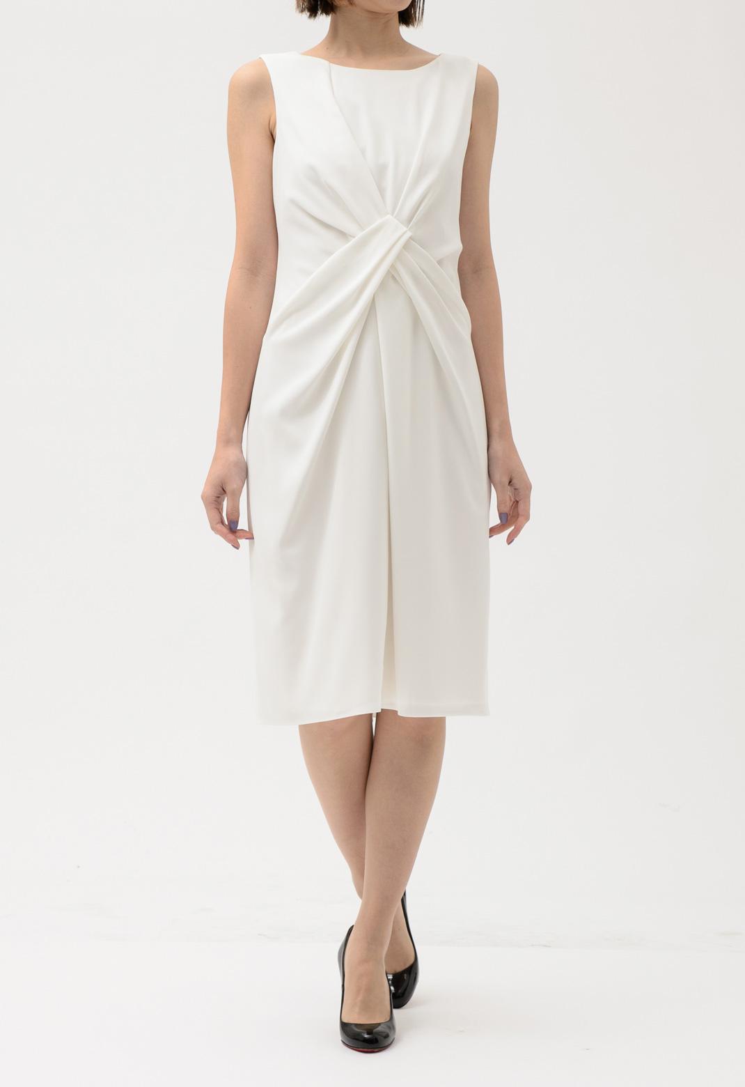 フロントツイスト ノースリーブ ドレス