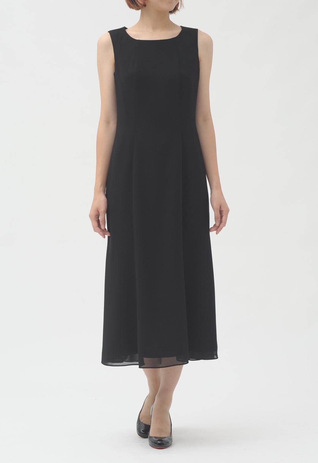 ノースリーブ ロング ドレス