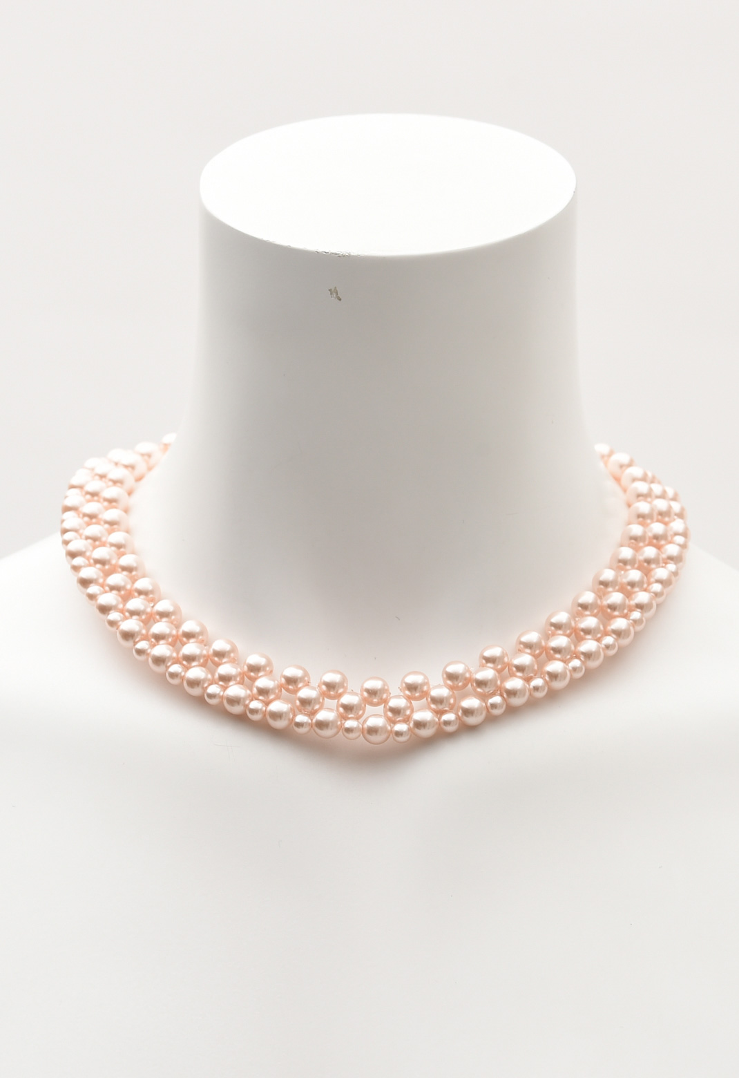 ピンクパール 三連 ネックレス