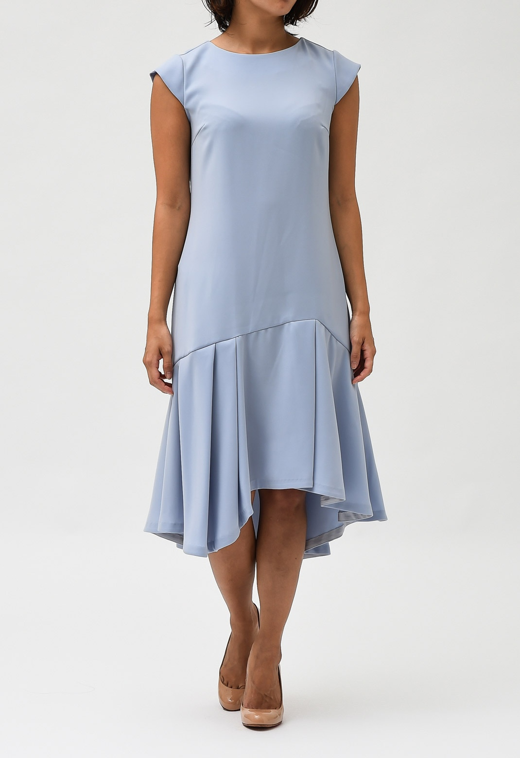 アシメ ペプラム ドレス