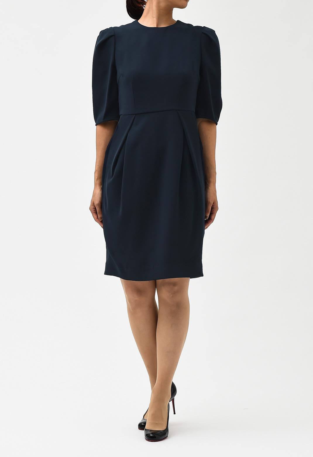 パフスリーブ風 半袖 ドレス