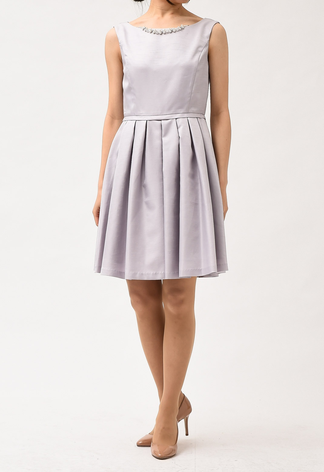 ネックレス付き ノースリーブ ドレス