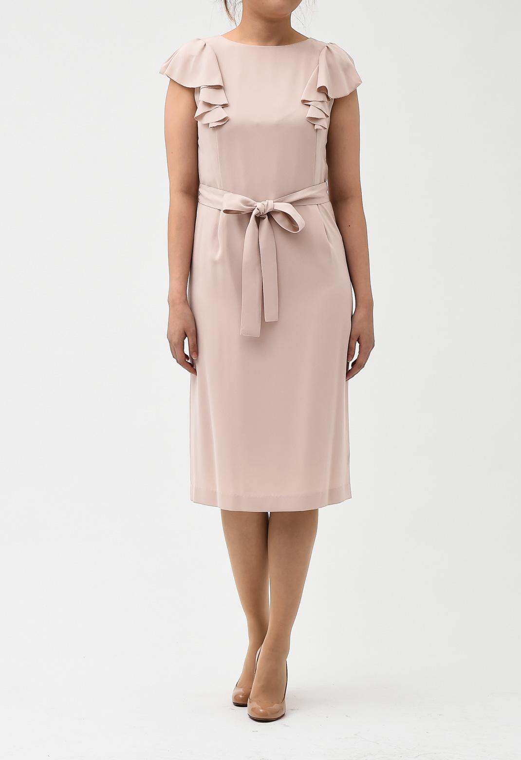 ユナイテッドアローズ ベルト付き フリル 半袖 ドレス
