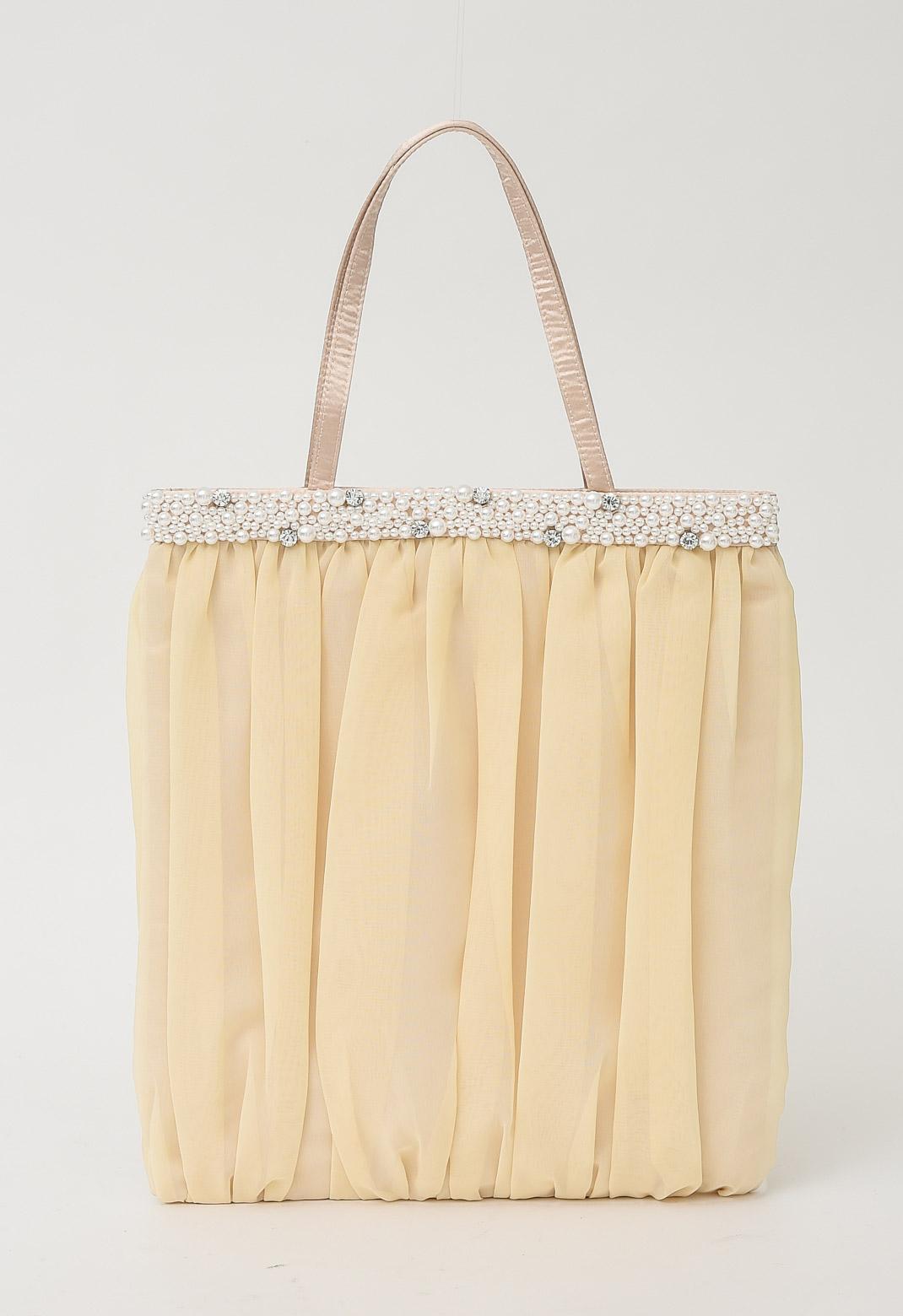 【オンライン限定】パール×ビジュー飾り トート型 サブ バッグ