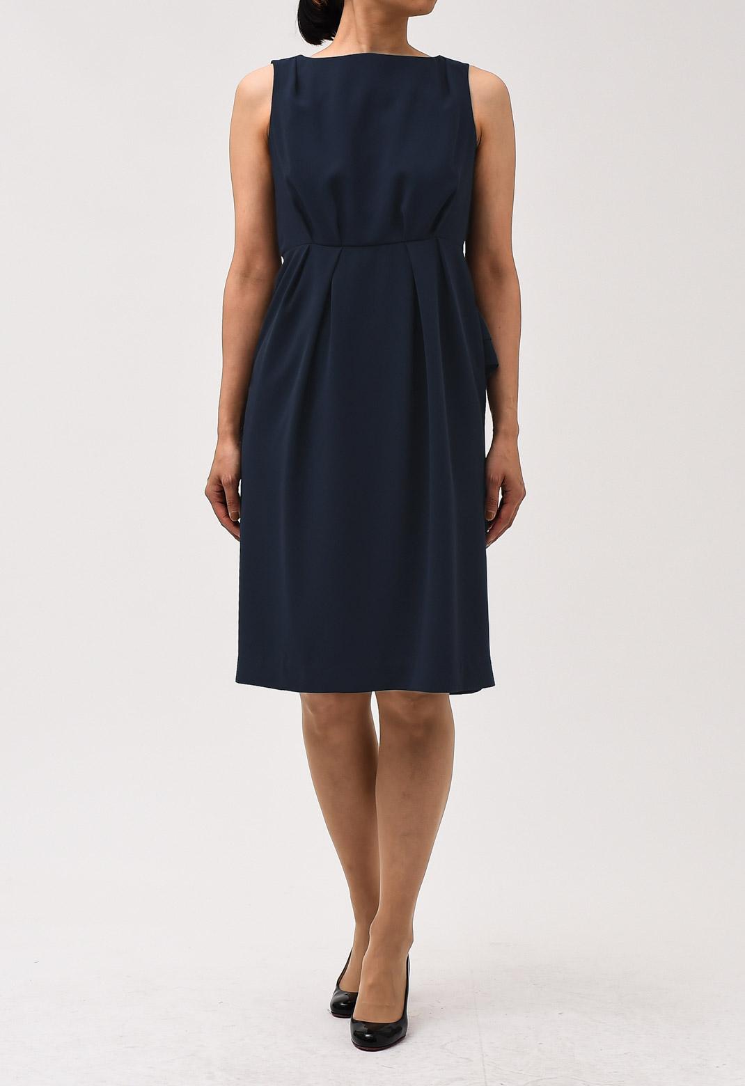 バックスタイル デザイン ノースリーブ ドレス
