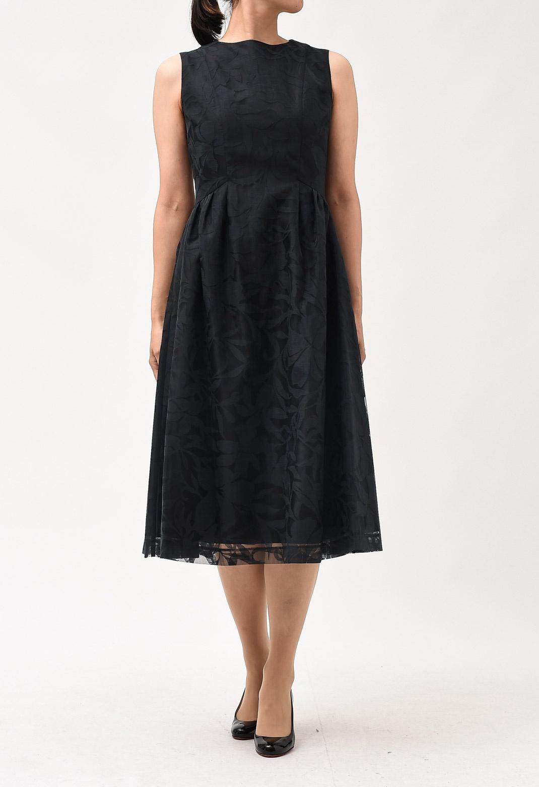 オパールプリント ノースリーブ ドレス