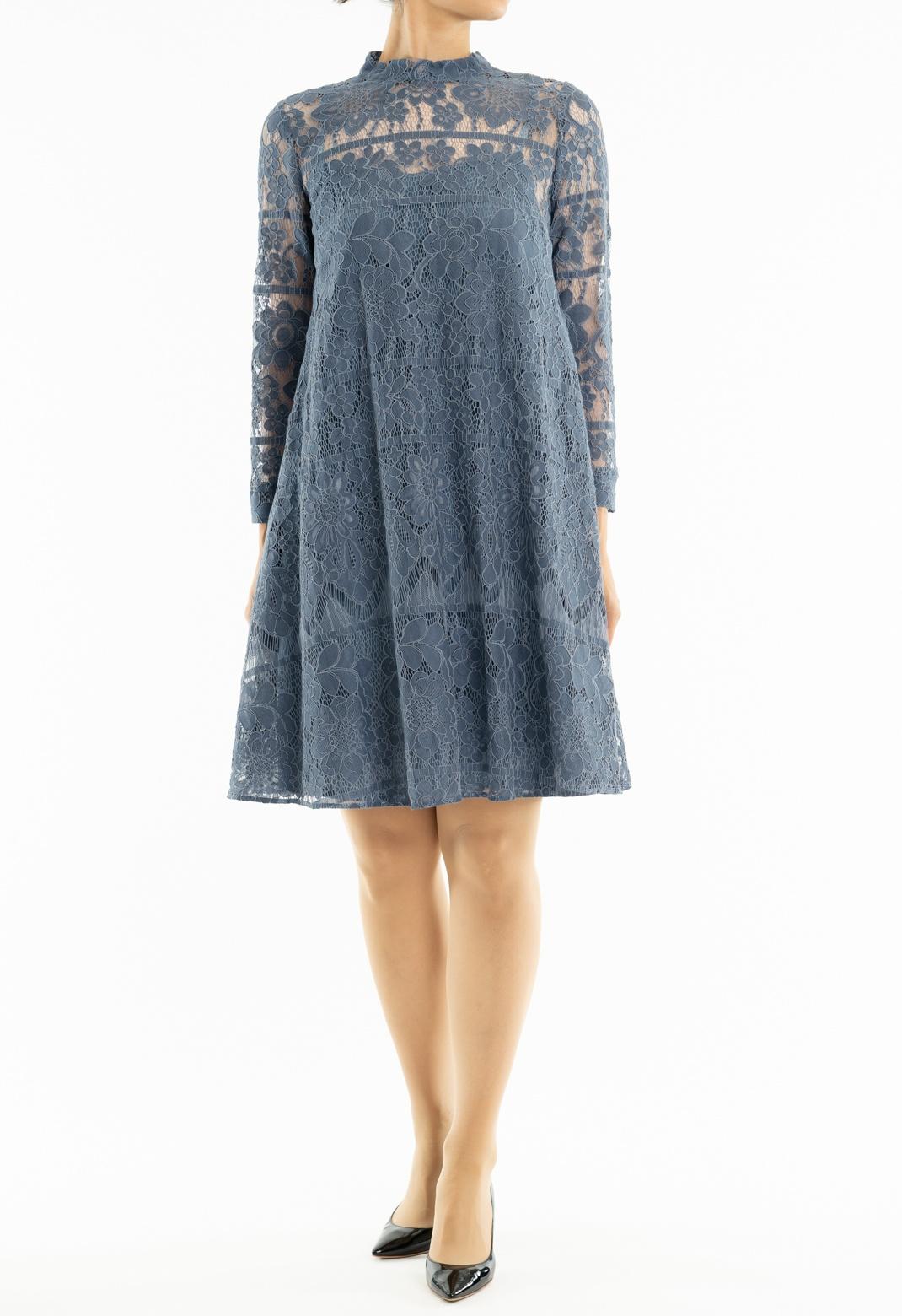 7分袖 Aライン ドレス