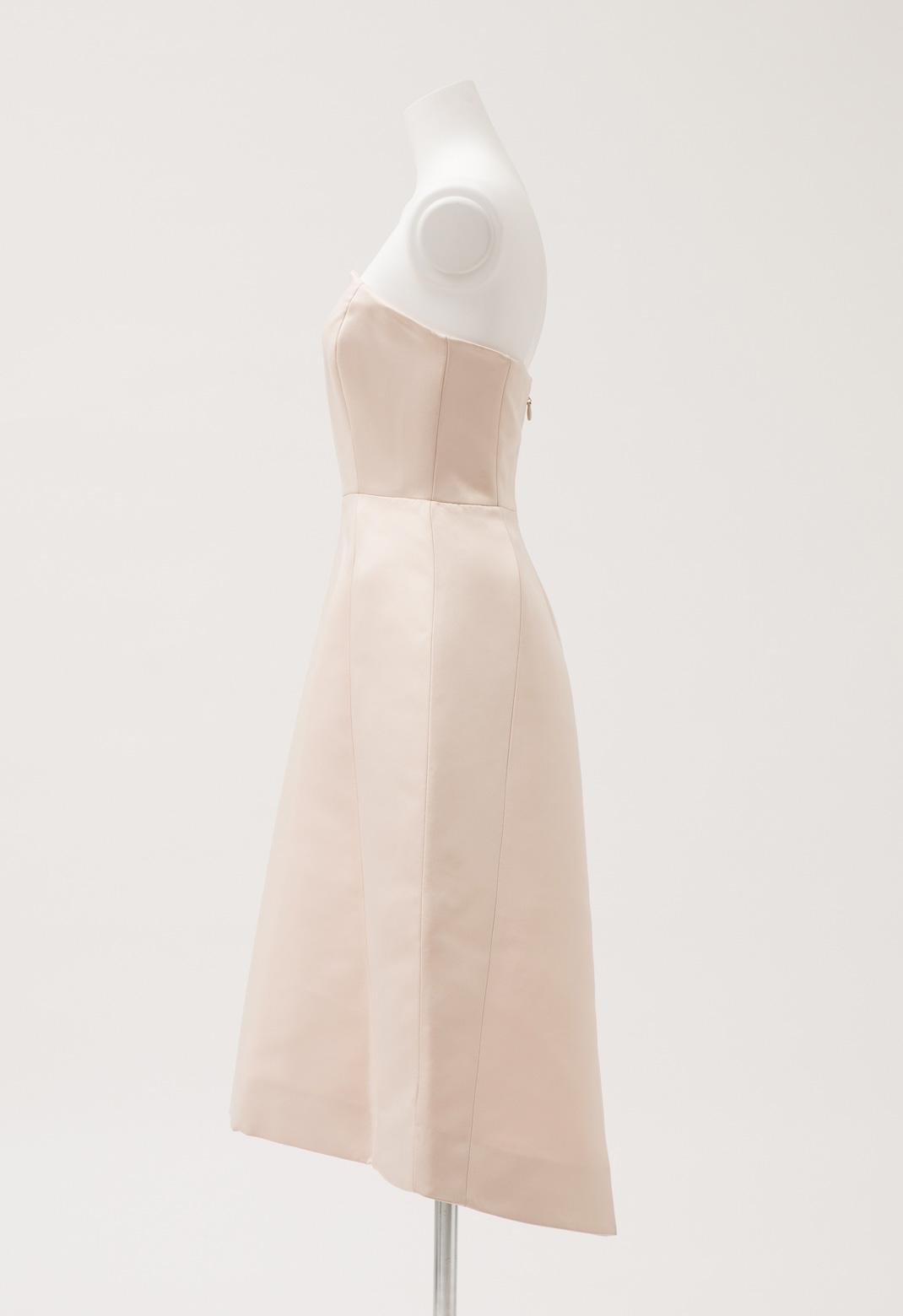 ストラップレス フレア ドレス