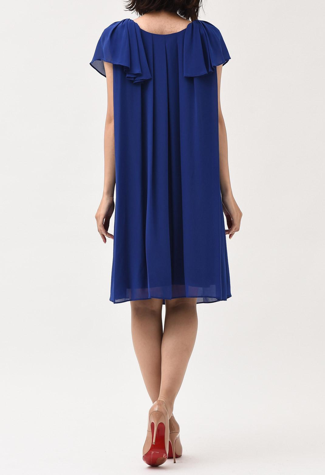 半袖/ノースリーブ 2way クルーネック ドレス