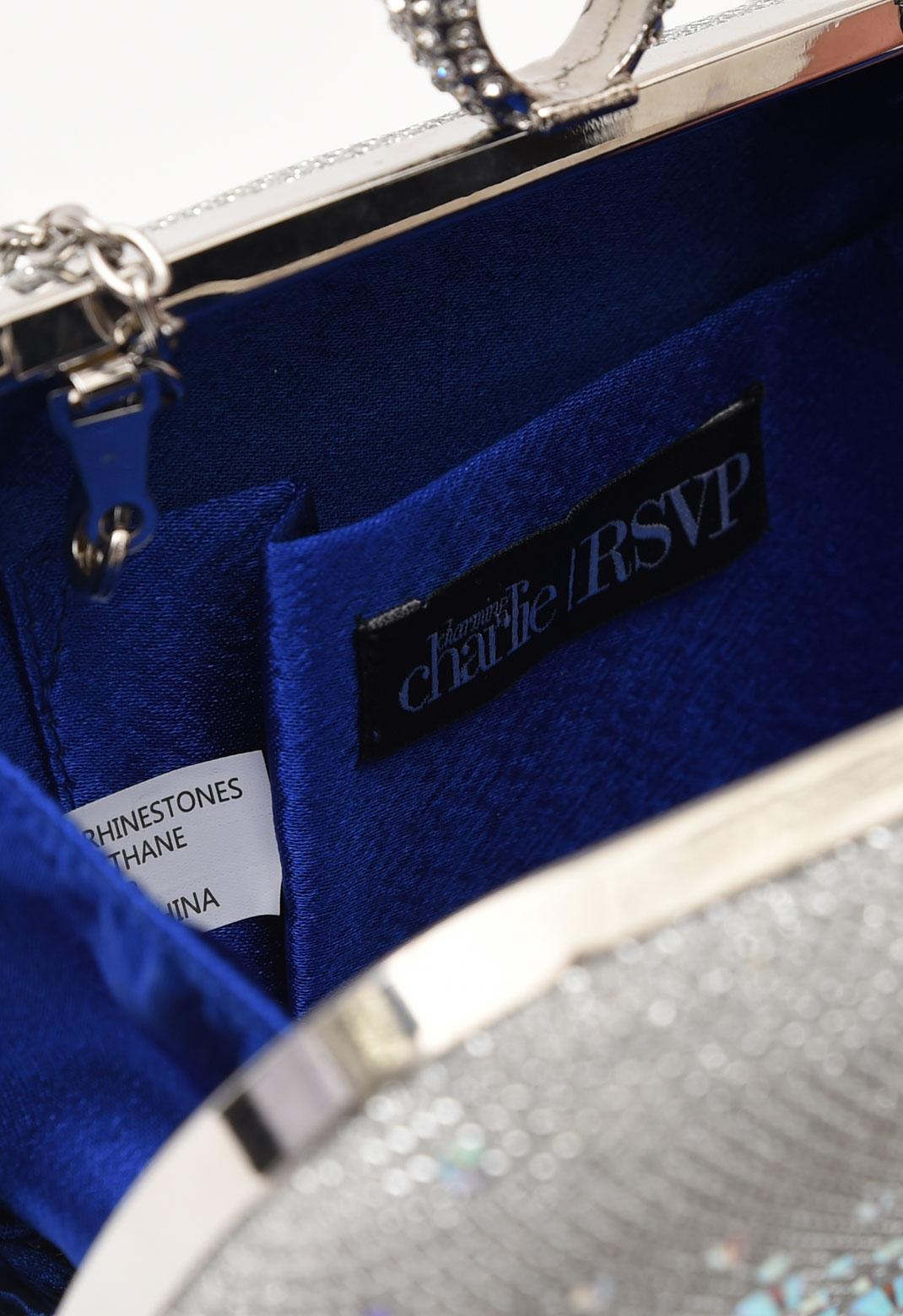 【オンライン限定】オーロラストーン飾り リングクラッチバッグ