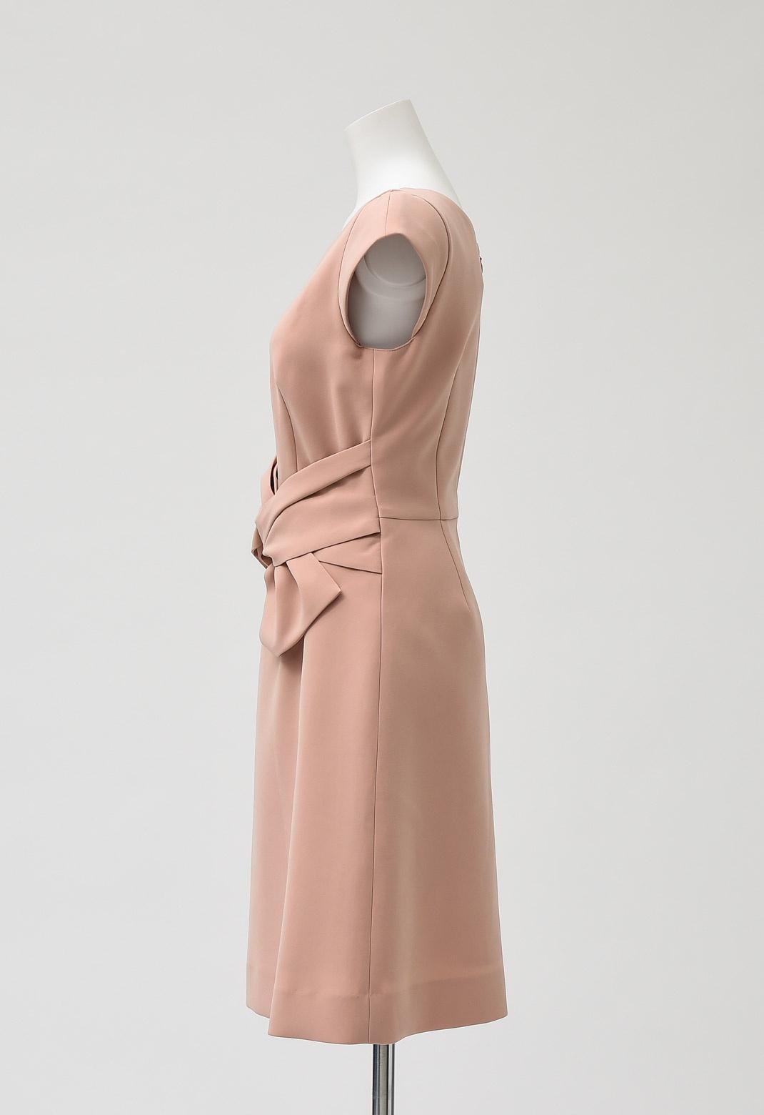 フレンチスリーブ リボン ドレス