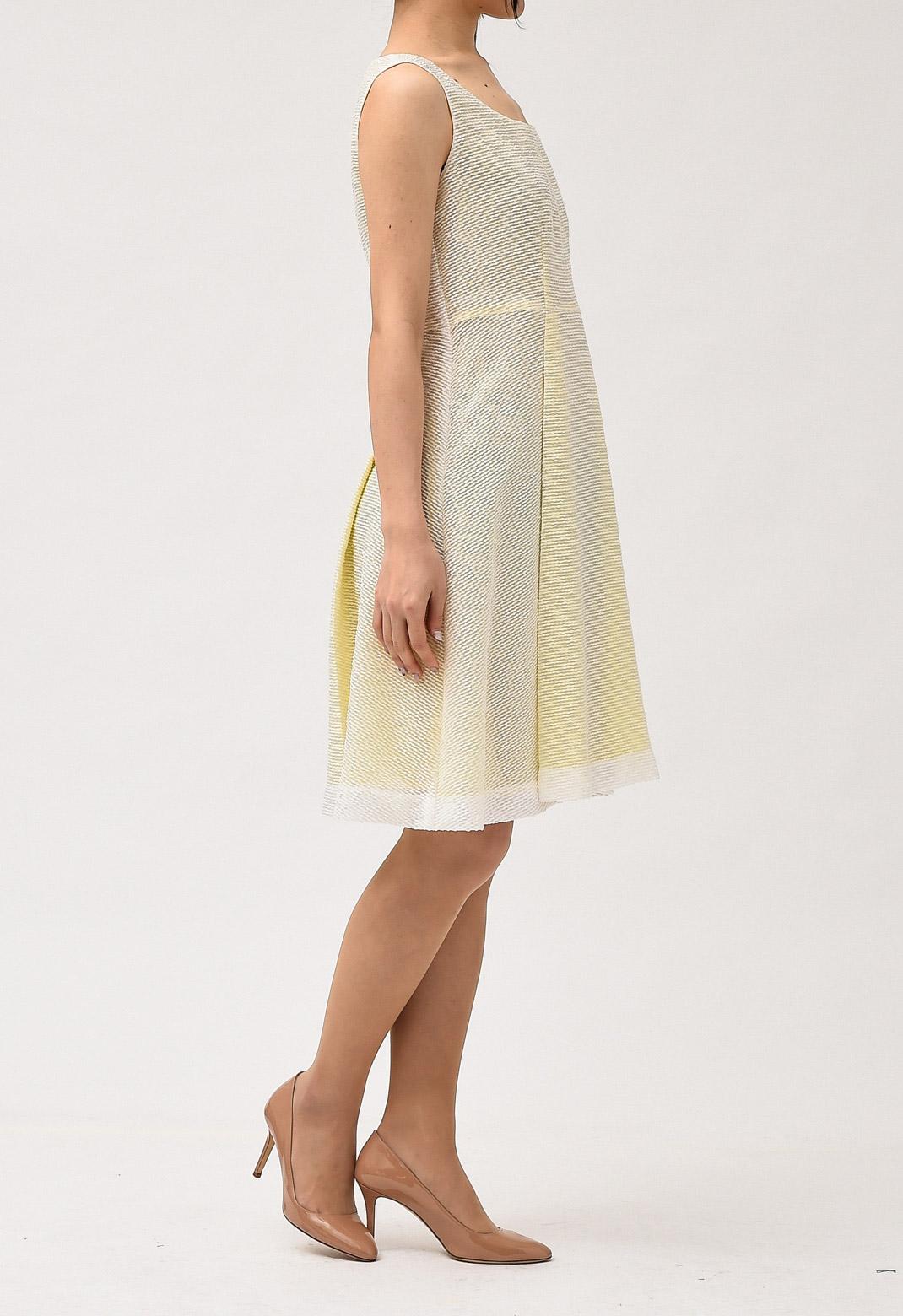 ノースリーブ フレアー ドレス