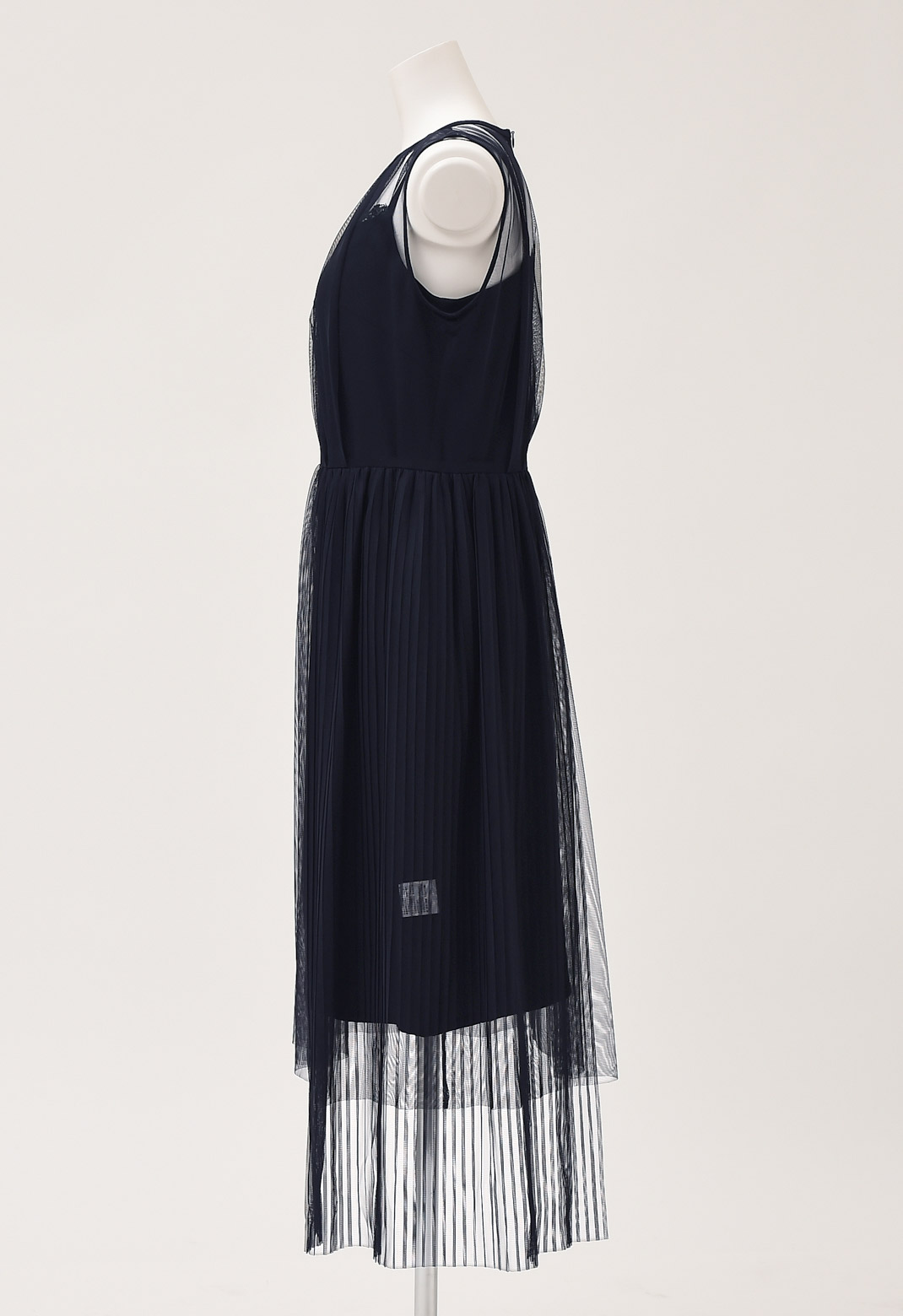 チュール レイヤード アシンメトリー ドレス