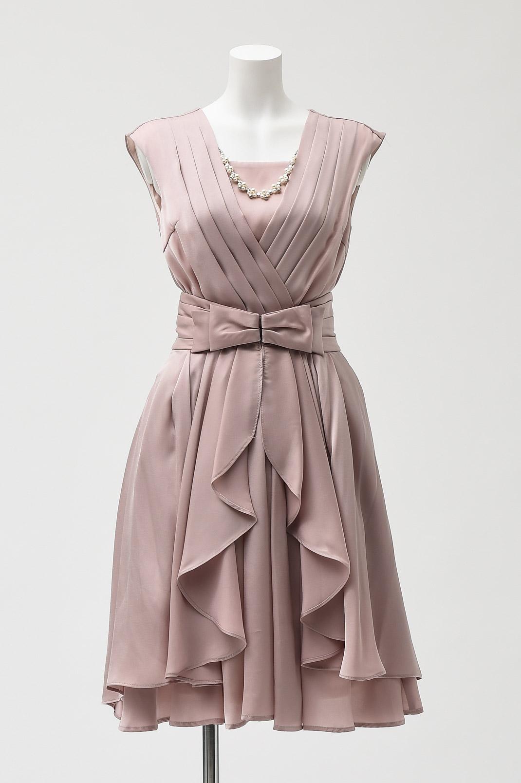 オーバースカート付き カシュクール ドレス