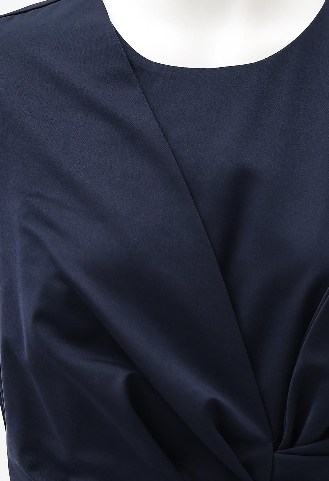リボン サテン ノースリーブ ドレス