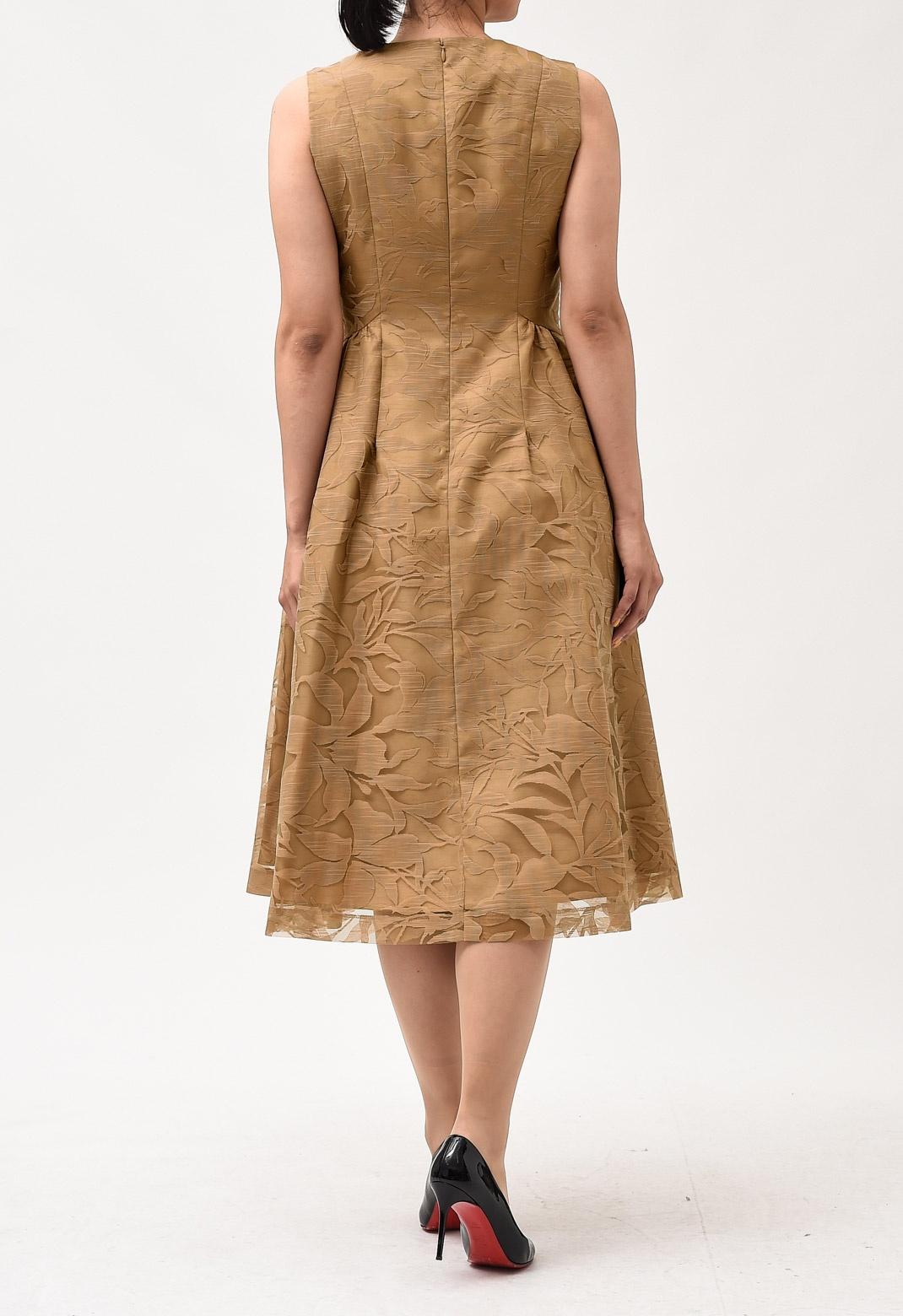 【オンライン限定】オパールプリント ノースリーブ ドレス