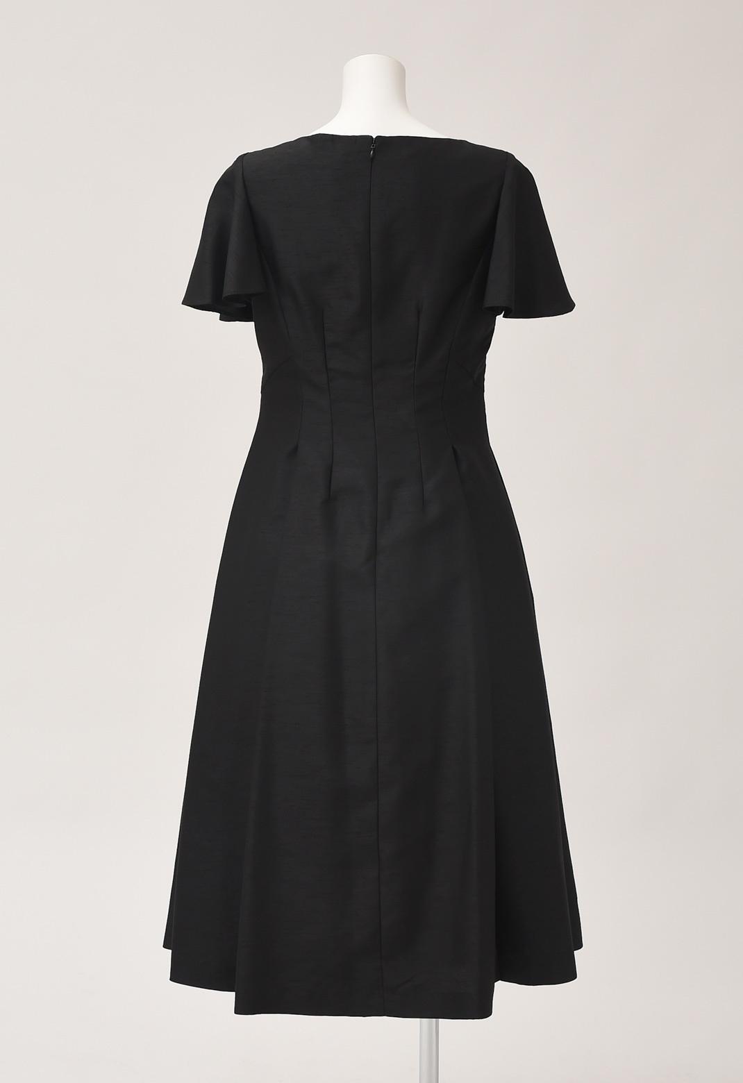 【オンライン限定】シャンタン フレアスリーブ ドレス